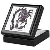 Cold Forged Steel Scorpion Keepsake Box