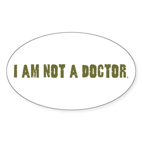 Funny gifts for nurses Oval Sticker