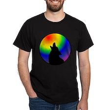 Wolf & Circle Gay Pride T-Shirt