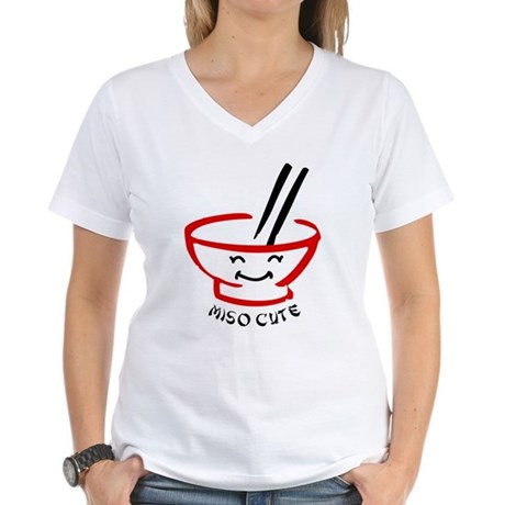 Miso Cute Women's V-Neck T-Shirt