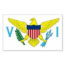 Virgin Islands Rectangle Decal