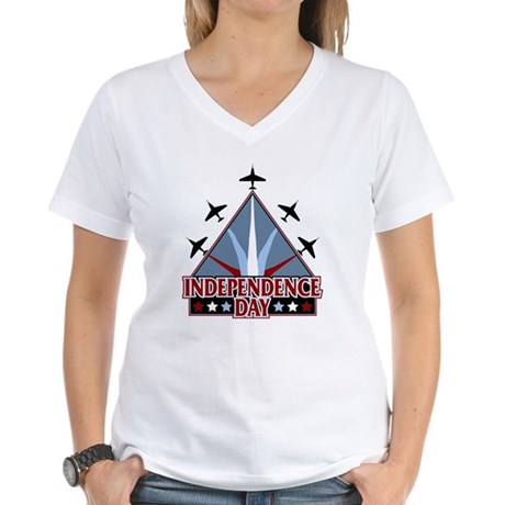 Independence Day Women's V-Neck T-Shirt