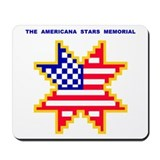 Americana Flag Star Mousepad