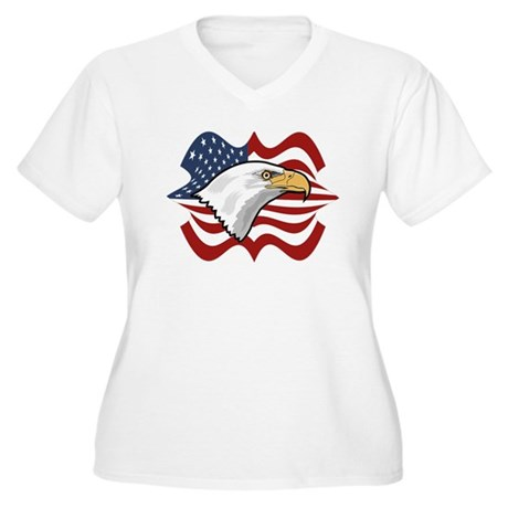 American Eagle Women's Plus Size V-Neck T-Shirt