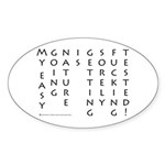 Easy Going Nature Oval Sticker