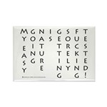 Easy Going Nature Rectangle Magnet (100 pack)