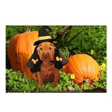 Halloween Shar Pei Postcards (Package of 8)