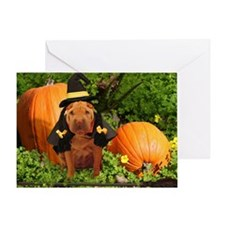 Halloween Shar Pei Greeting Card