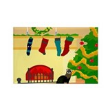 Christmas Ferret Rectangle Magnet (10 pack)