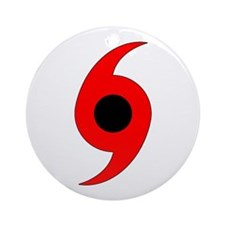 Hurricane Symbol Vertical Ornament (Round)