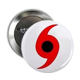 "Hurricane Symbol Vertical 2.25"" Button (10 pack)"