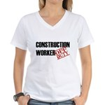 Off Duty Construction Worker Women's V-Neck T-Shir