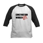 Off Duty Construction Worker Kids Baseball Jersey