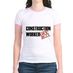 Off Duty Construction Worker Jr. Ringer T-Shirt