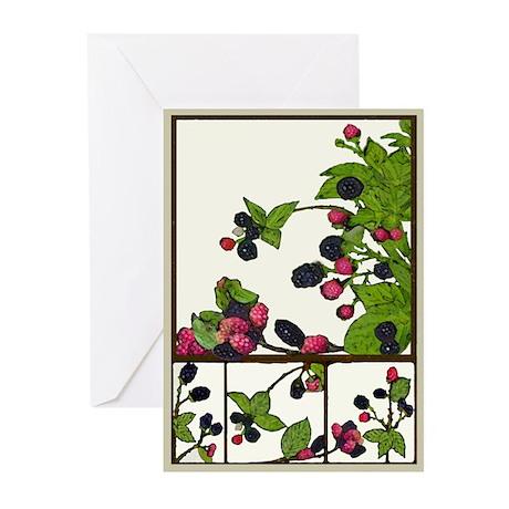 blackberries Greeting Cards (Pk of 10) blank