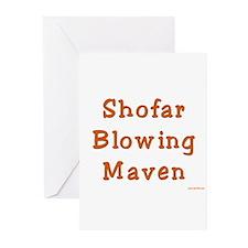 Shofar Blowing Maven Greeting Cards (Pk of 20)