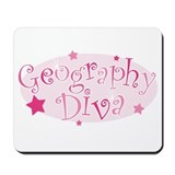 &quot;Geography Diva&quot; [pink] Mousepad