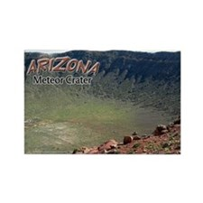 Arizona Meteor Crater Rectangle Magnet