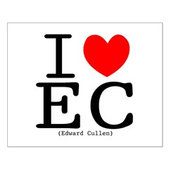 """I (heart) Edward Cullen"" Small Poster"