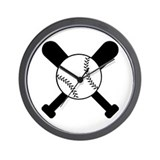 Baseball Bats & Ball Wall Clock