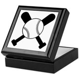 Baseball Bats & Ball Keepsake Box