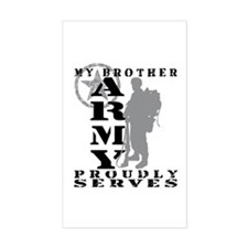 Brother Proudly Serves 2 - ARMY Sticker (Rectangul