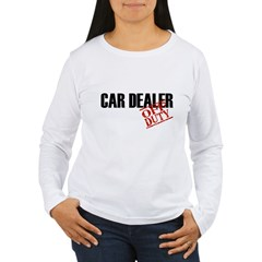 Off Duty Car Dealer Women's Long Sleeve T-Shirt
