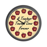 Teacher Touches Lives School Wall Clock