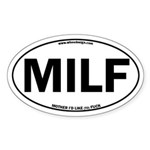 MILF Euro Oval Oval Sticker (Oval)