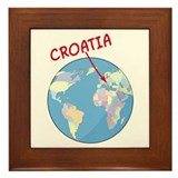 Where is Croatia Framed Tile