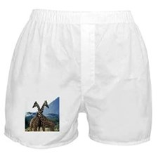 Giraffe Crossing Boxer Shorts