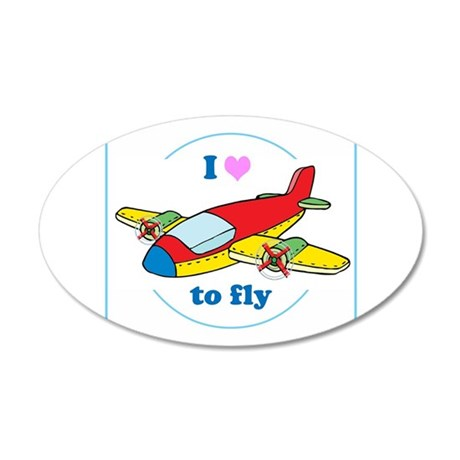 I Heart to Fly Wall Decal