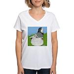 Opal Trumpeter Pigeon Women's V-Neck T-Shirt