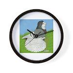 Opal Trumpeter Pigeon Wall Clock
