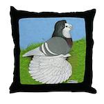 Opal Trumpeter Pigeon Throw Pillow