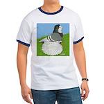 Opal Trumpeter Pigeon Ringer T