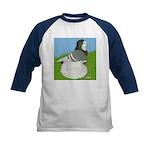 Opal Trumpeter Pigeon Kids Baseball Jersey