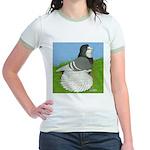 Opal Trumpeter Pigeon Jr. Ringer T-Shirt