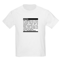 Evil Genius Personal Ad Kids Light T-Shirt