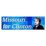 Missouri for Clinton bumper sticker