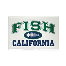 Fish California Rectangle Magnet
