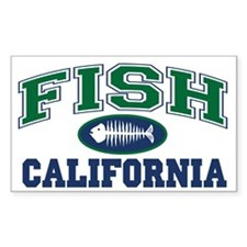 Fish California Rectangle Decal