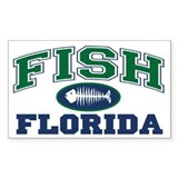 Fish Florida Rectangle Decal