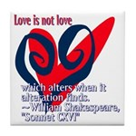 Love Shakespeare Tile Coaster