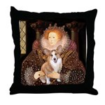 The Queen's Corgi Throw Pillow
