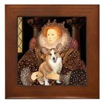 The Queen's Corgi Framed Tile