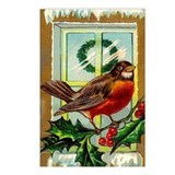Christmas Robin Postcards (Package of 8)