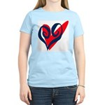 SWEET HEART Women's Pink T-Shirt