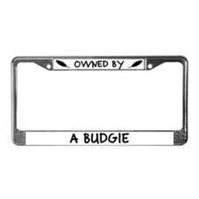 Owned by a Budgie License Plate Frame