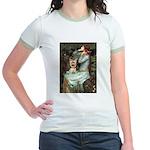 Ophelia's Yorkie (17) Jr. Ringer T-Shirt